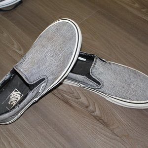Nice Gray Slip-on Vans Size 10